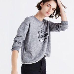 Madewell Cut-off Cropped Big Sky Sweatshirt